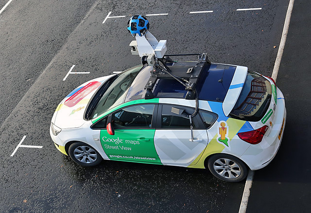Google Maps car, CC-BY-SA Walter Baxter