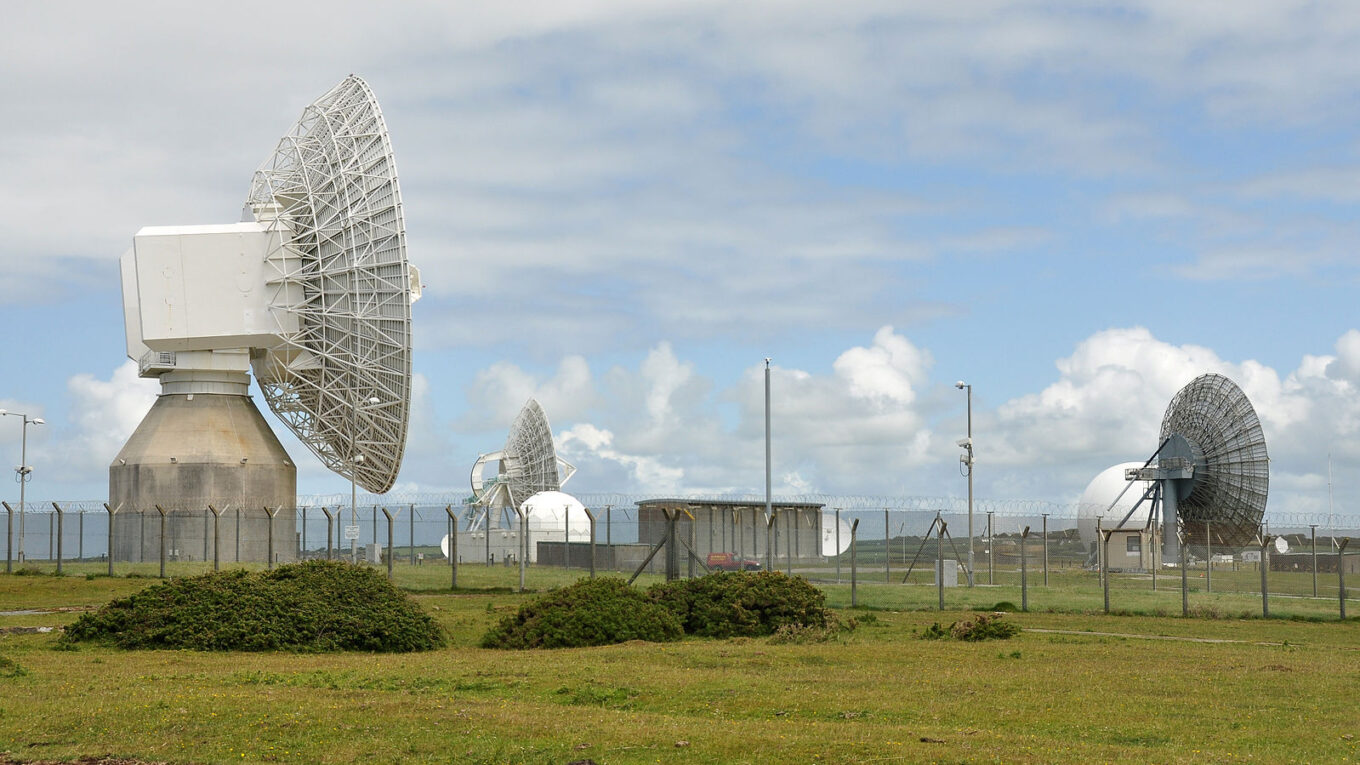GCHQ satellite dishes at Bude in Cornwall